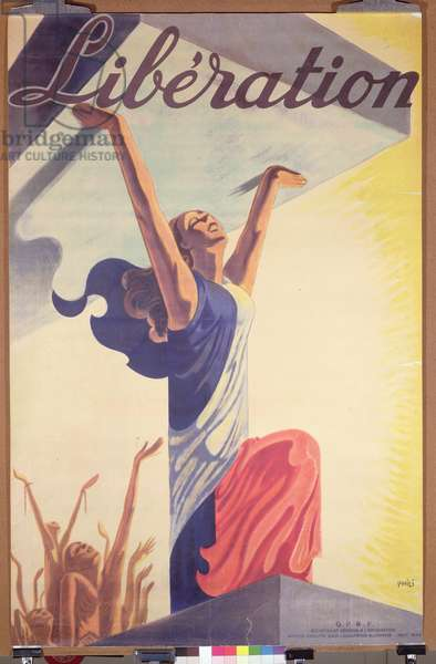 'Liberation', poster announcing the end of the Occupation of Paris, August 1944 (colour litho)