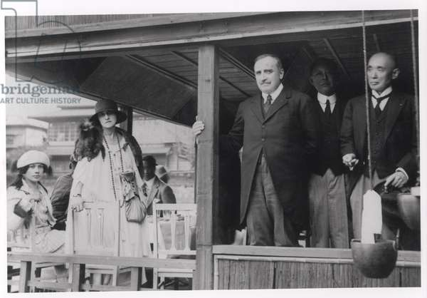 Paul Claudel (1868-1955) in Japan, 1921 (b/w photo)