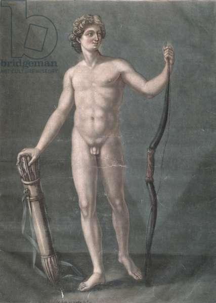 Apollo, the ideal anatomy (mezzotint)