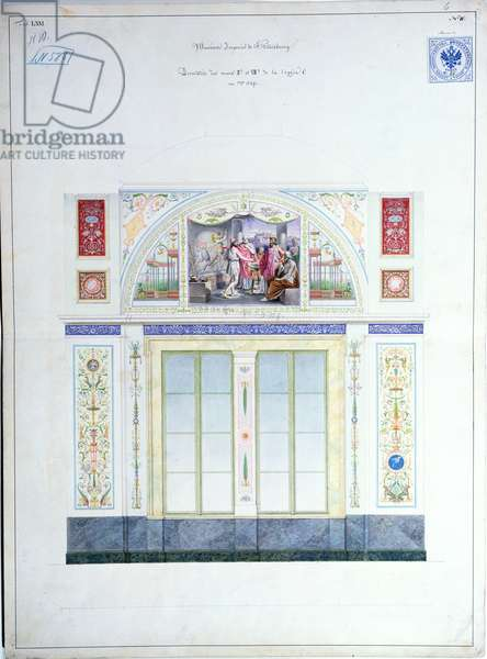 Mural design for the Hermitage, St. Petersburg, c.1840 (w/c on paper)