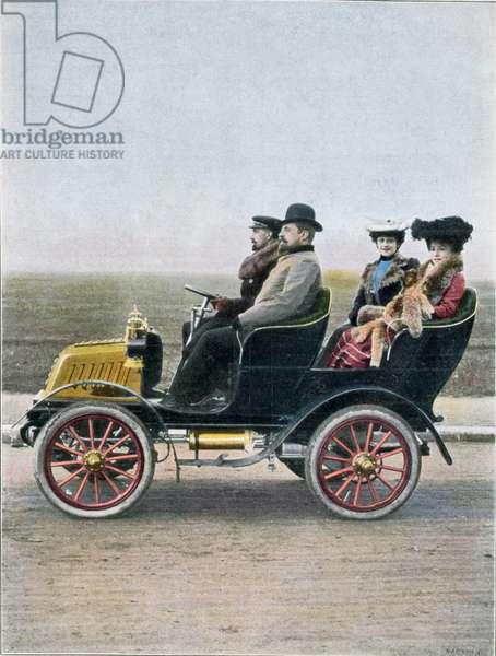 Advertisement for the De Dion-Bouton Phaeton, 1901 (colour litho)
