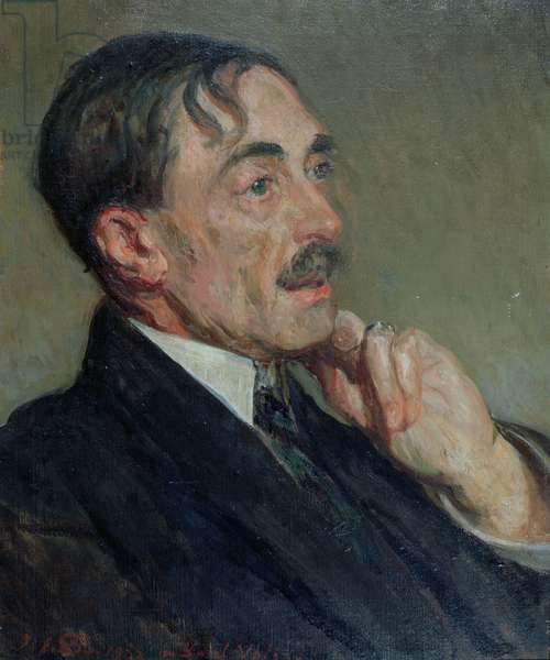 Portrait of Paul Valery, 1923 (oil on canvas)