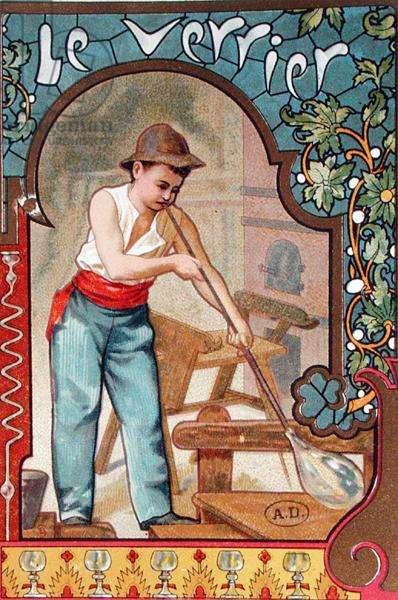 The Glassblower, c.1899 (colour litho)