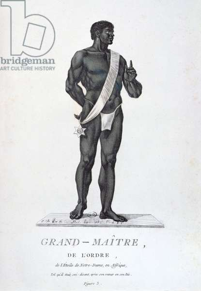 Grand Master of the Order of the Star of Notre-Dame, in the costume of his country, from 'Recueil de Tous Les Costumes des Ordres Religieux et Militaires', published 1785 (coloured engraving)
