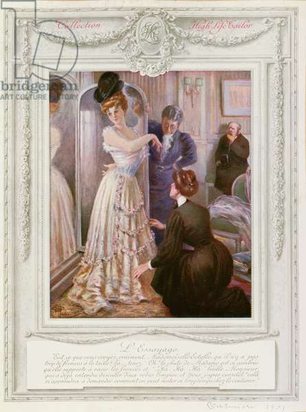 The Dressmaker, 1901 (colour litho)