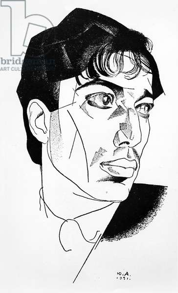 Boris Pasternak, 1921 (pen and ink on paper)
