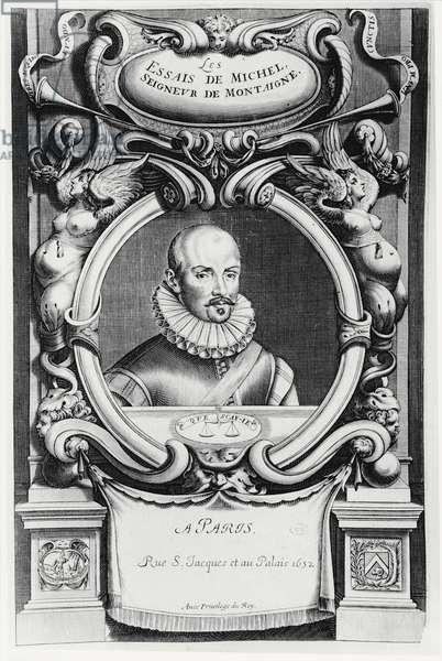Portrait of Michel de Montaigne, 1652 (engraving)