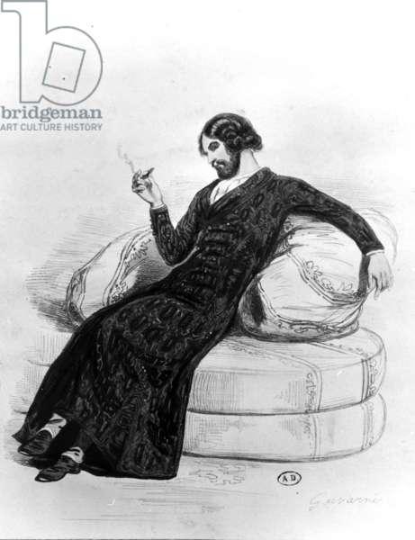 The Artist, c.1830 (litho) (b/w photo)