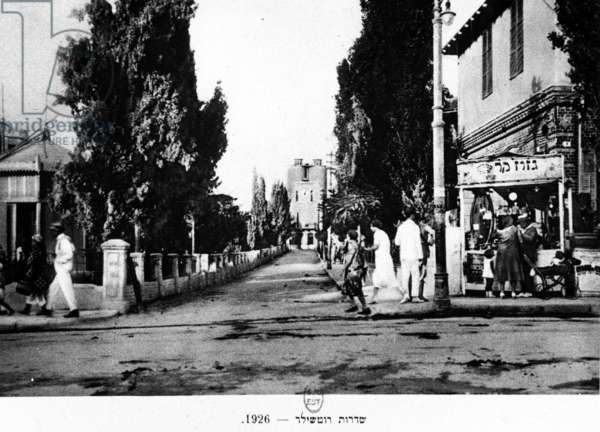 Rothschild Boulevard, Tel Aviv, Israel, 1926 (b/w photo)