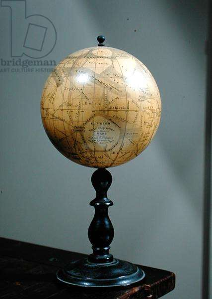 Globe of the planet Mars, made by Eugene Michel Antoniadi
