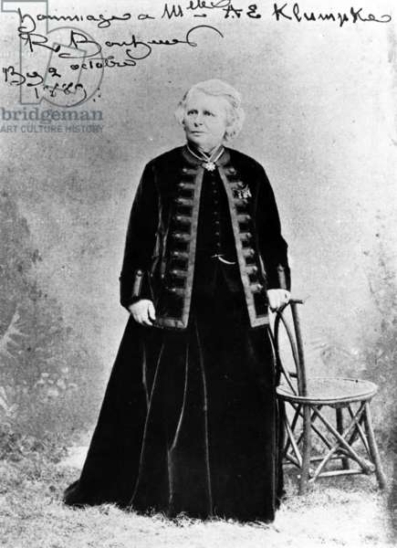 Rosa Bonheur at 63 Years Old, 1889 (b/w photo)