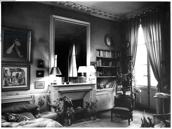 Colette's Flat at Palais Royal, Paris (b/w photo)