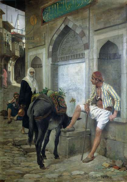 A Street in Istanbul, 1883 (oil on canvas)