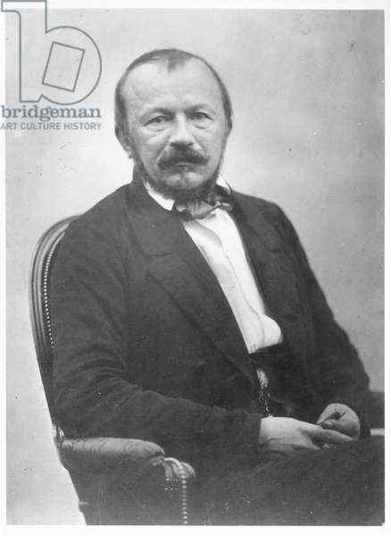 Portrait de Gerard de Nerval (1808-55), 2nd half 19th century (b/w photo)