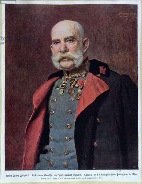 Portrait of Kaiser Franz Joseph I (1830-1916) 1904-5 (colour litho)