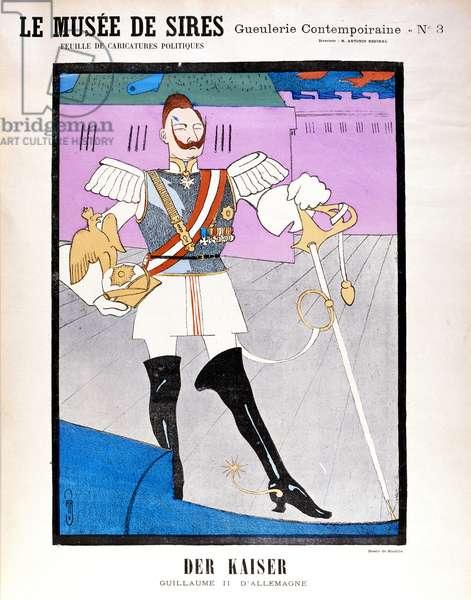 Kaiser Wilhelm II (1859-1942), c.1900 (colour litho)