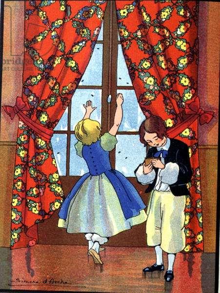 Illustration for 'Les Malheurs de Sophie' by the Comtesse de Segur, 1936 (colour litho)