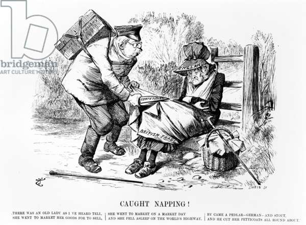 Caught Napping!, illustration from 'Punch', September 5 1896 (engraving)