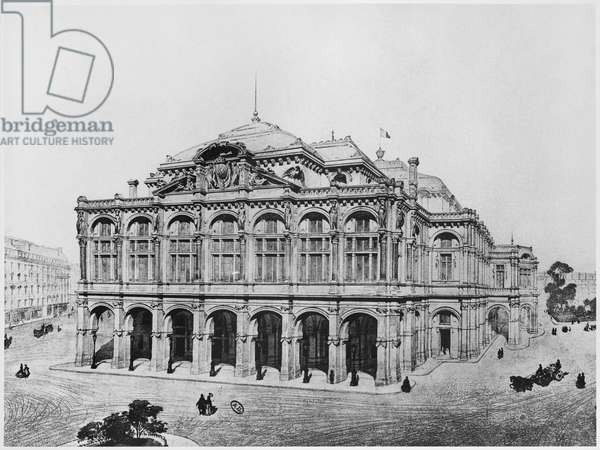 Competition project for the Opera of Paris (pencil on paper)