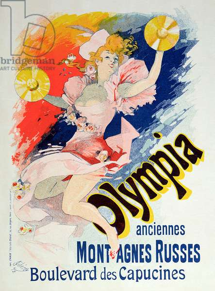 Poster advertising 'Olympia', Boulevard des Capucines, 1892 (colour litho)