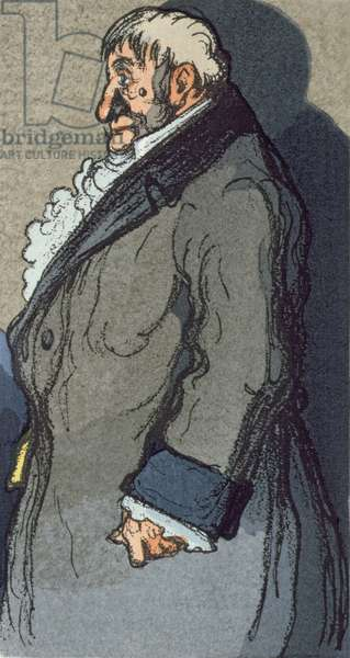 'Le Pere Goriot', illustration for Balzac's novel published by Rene Kieffer in Paris in 1922 (colour litho)