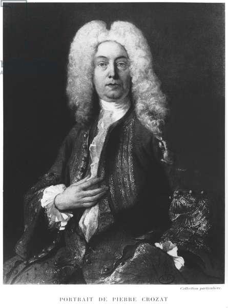 Portrait of Pierre Crozat (1661/5-1740) (litho) (b/w photo)