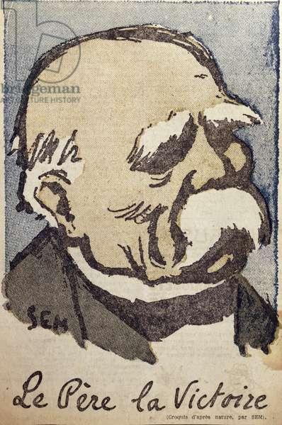 Georges Clemenceau (1841-1929) as 'Pere la Victoire', c.1918-19 (colour litho)