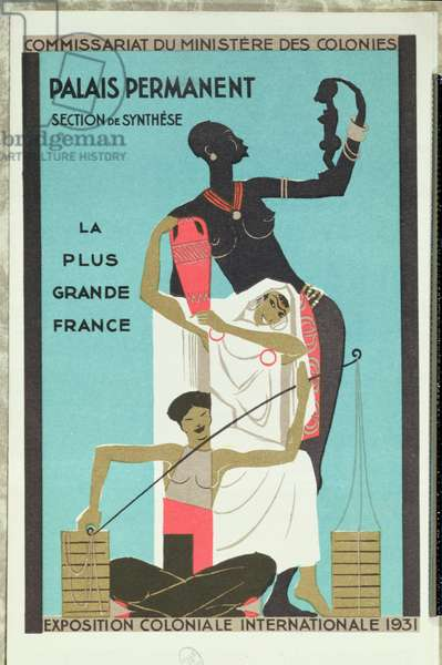 Poster for the Paris Colonial Exposition, 1931 (colour litho)