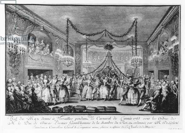 May Ball at Versailles during the Carnival of 1763 (engraving)