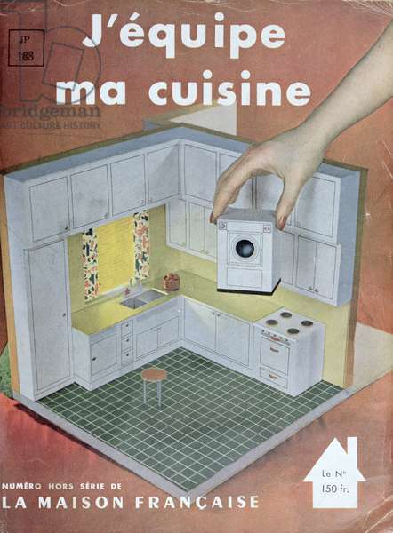 'I'm kitting out my kitchen', special edition of 'La Maison Francaise' magazine, 1950 (colour litho)