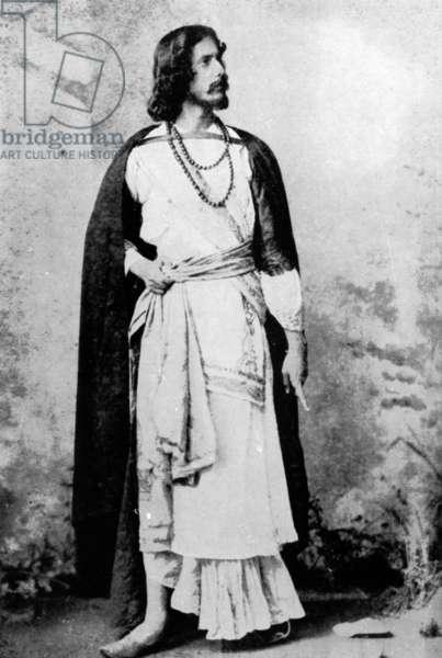 Rabindranath Tagore, c.1880-90 (b/w photo)