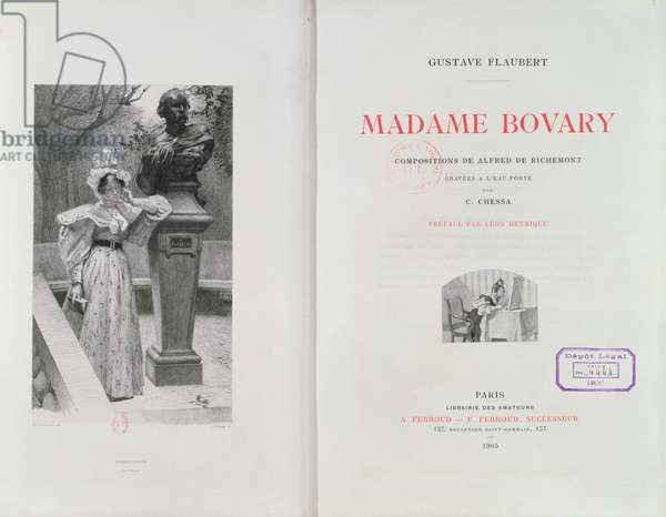 Frontispiece of 'Madame Bovary' by Gustave Flaubert, engraved by Carlo Chessa (1855-1925), 1905 (engraving)