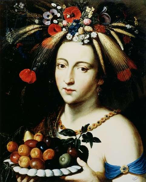 Ceres, goddess of Abundance, 17th century (oil on copper)