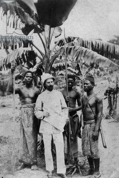 French Congo, 1880 (b/w photo)