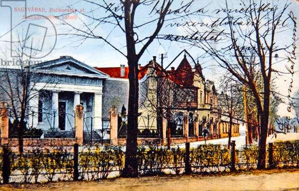 The Masonic Lodge in Oradea (Nagyvarad), Romania, 1913 (photolitho)
