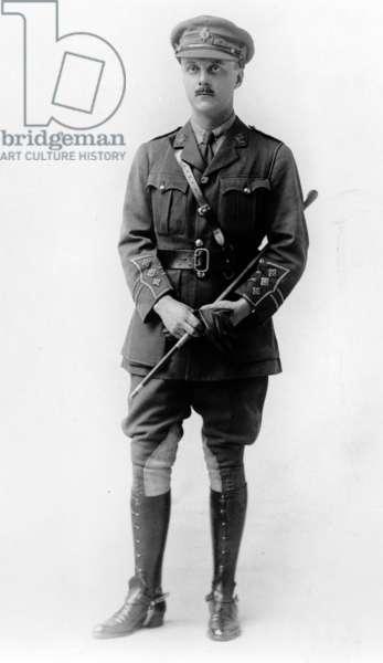 English Cavalry Officer, c.1930 (b/w photo)