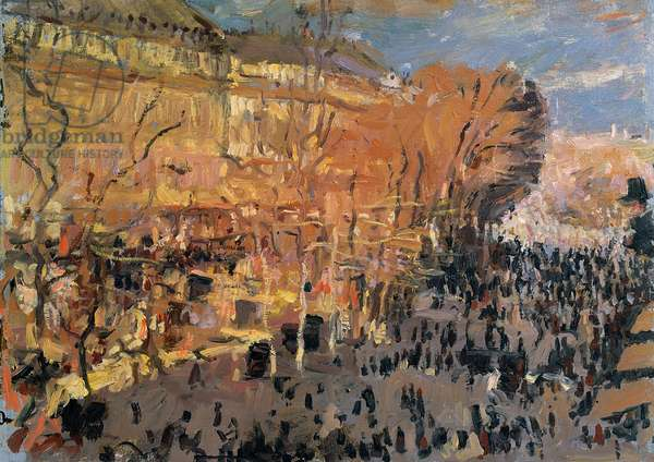 Study for 'The Boulevard des Capucines', 1874 (oil on panel)
