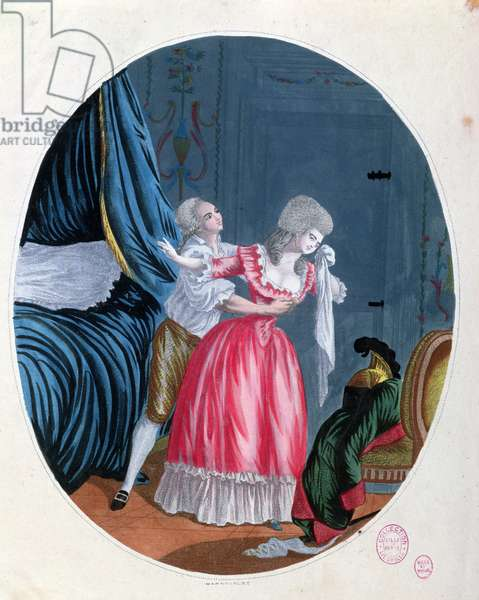 Pointless Regrets, late 18th century (colour engraving)