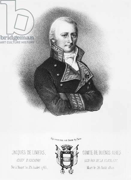 Jacques de Liniers (1753-1810) early 19th century (litho) (b/w photo)