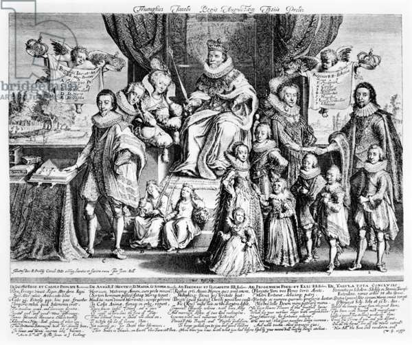 The Triumph of King James and His August Descendants, c.1622-4 (engraving)