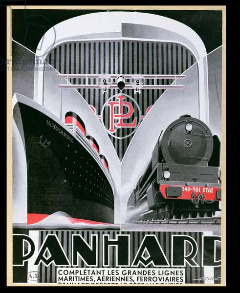Poster advertising Panhard-Levassor, c.1934 (colour litho)