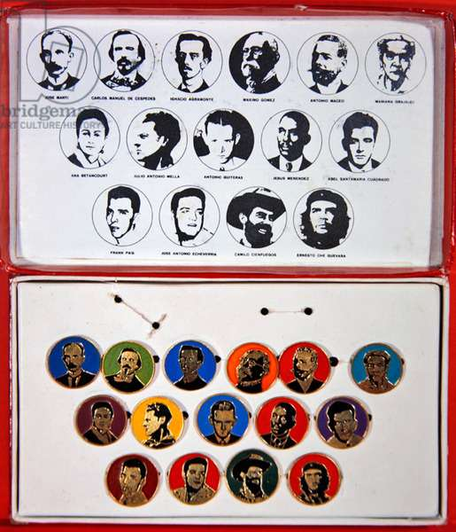 Medallions and portraits of Cuban revolutionary heroes, 2nd half of 20th century (mixed media)