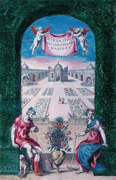 Book of plants, 1627 (colour engraving)