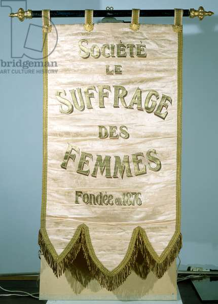 Banner for the Societe Le Suffrage de Femmes (silk)