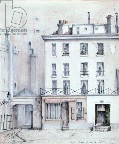 View of the House of Jacques Rene Hebert (1757-94) 1910 (w/c on paper)