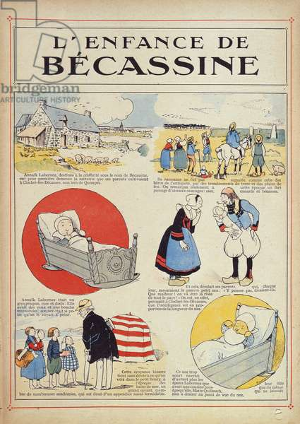 The Childhood of Becassine, 1905 (colour litho)