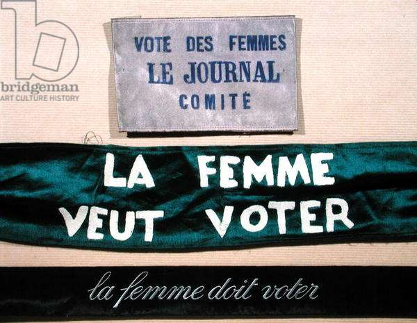 Banners for the women's vote