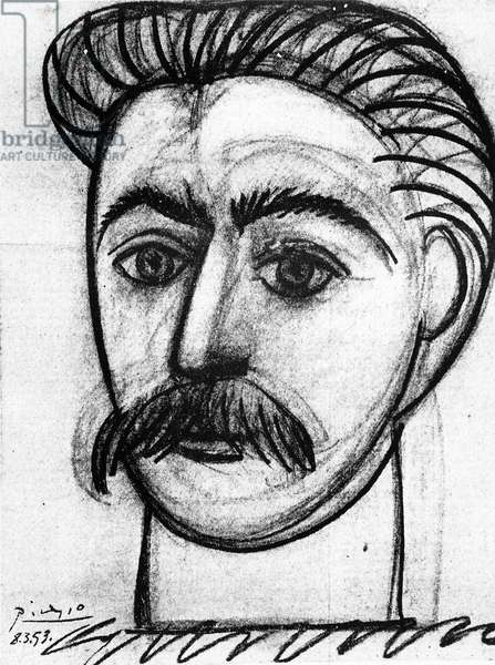 Portrait of Stalin, illustration from the magazine 'Les Lettres Françaises', 12 March, 1953 (litho)