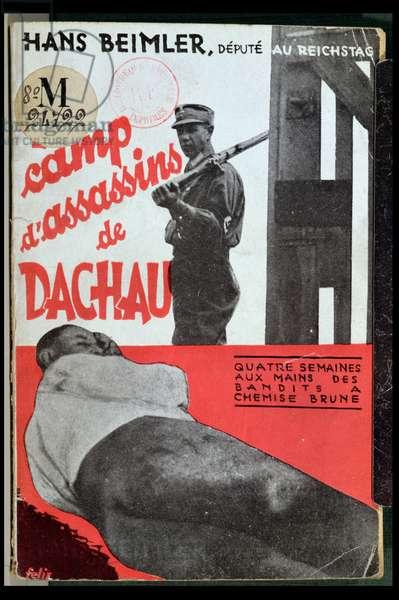 Four Weeks in Dachau, by Hans Beimler (b.1895) 1933 (colour litho)