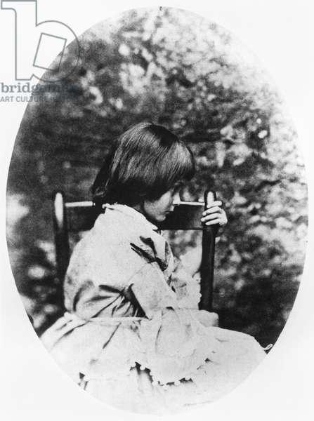 Alice Pleasance Liddell (1852-1934) 1858 (b/w photo)